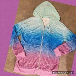 Justice soft velour type jacket 16/18